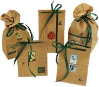 Advents Kalender Weihnachten, Set zum Befüllen 24 Papier-Tüten-Kalender braun
