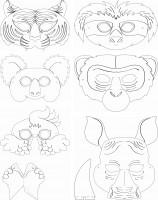 Kindermasken exotische Tiere 6 verschiedene Motive